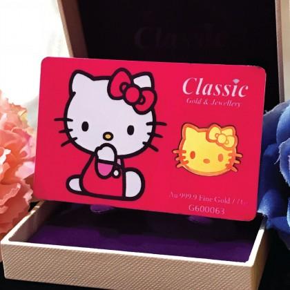 Classic Gold 999.9 Gold Bar Hello Kitty