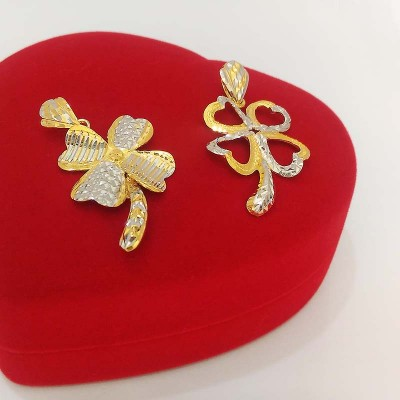 916 Gold Four Leaf Clover Pendant