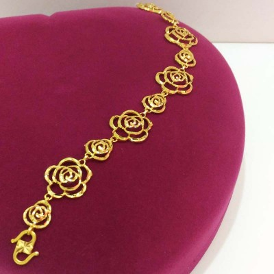 916 Gold Rose Shaped Bracelet