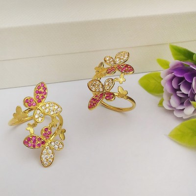 Butterfly Design 916 Gold Ring