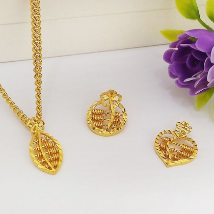 Exquisite 916 Gold Abacus Pendant