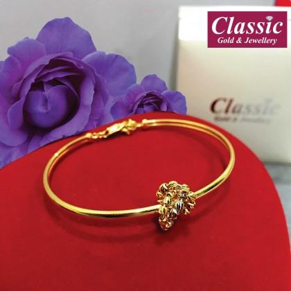 916 Gold Sincere Desire Bangle