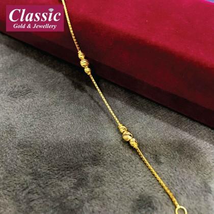 916 Gold Simple Bracelet
