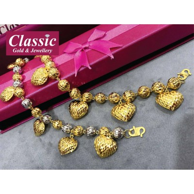 916 Gold Big Love Bracelet