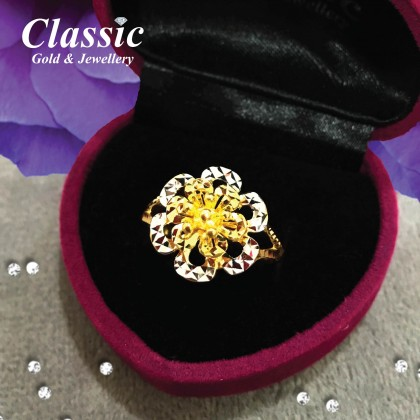 916 Gold Blooming Flower Ring