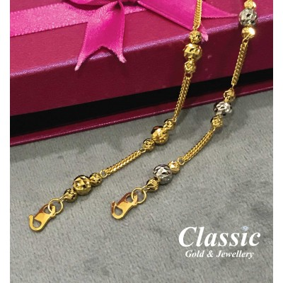 916 Gold Sparkling Circle Bracelet
