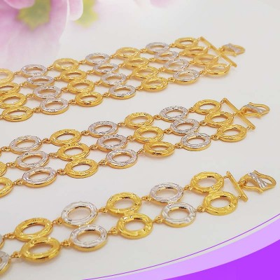 Multi-Layered Oval Links Bracelet